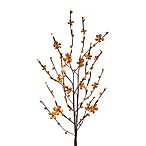 39-Inch Battery Operated Amber Petal Flower LED Lighted Branches