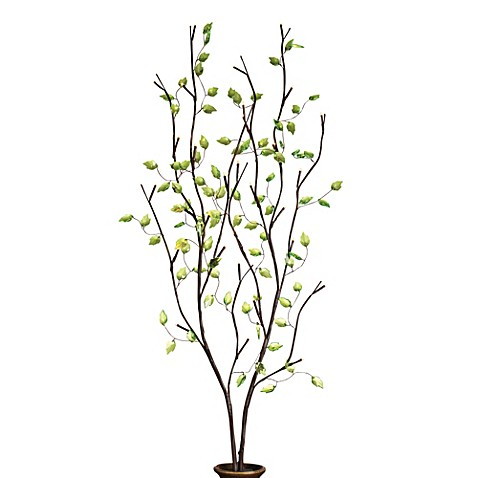 39 Inch Battery Operated Green Leaf Led Lighted Branches