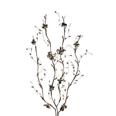 39-Inch Battery Operated Smokey Gray LED Lighted Branches