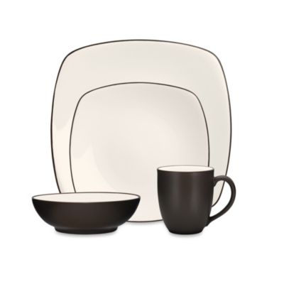 Noritake® Colorwave Chocolate Square 4-Piece Place Setting