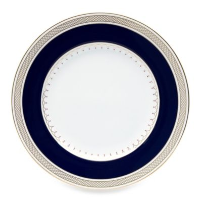 Nikko Lattice Gold Blue 9-Inch Accent Plate