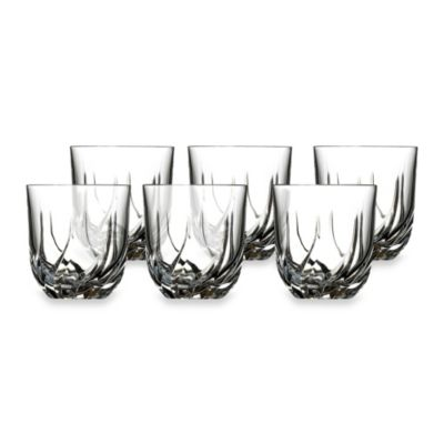 Lorren Home Trends Trix Crystal Double Old Fashioned Glass (Set of 6)