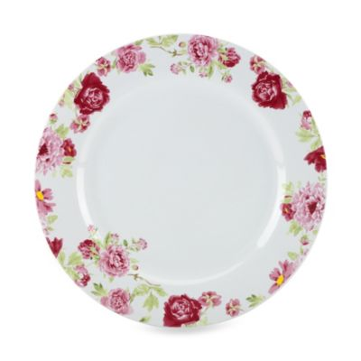 Kathy Ireland Home® by Gorham Blossoming Rose 11-Inch Dinner Plate