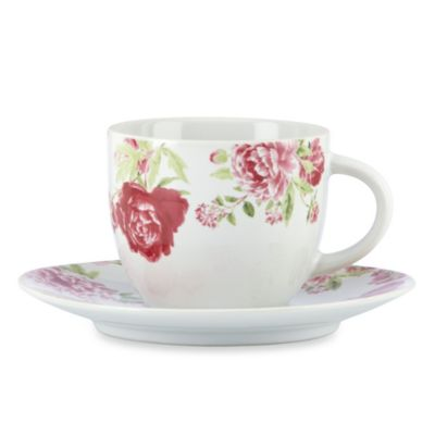Kathy Ireland Home® by Gorham Blossoming Rose Cup & Saucer Set