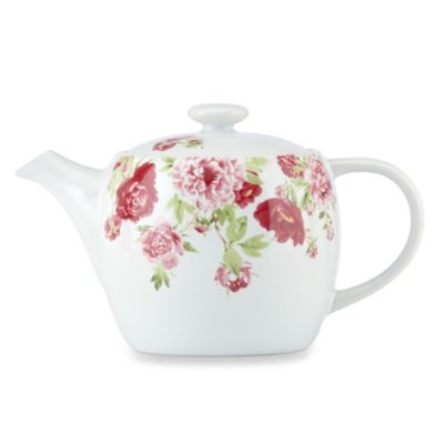 Kathy Ireland Home by Gorham Blossoming Rose 30-Ounce Teapot