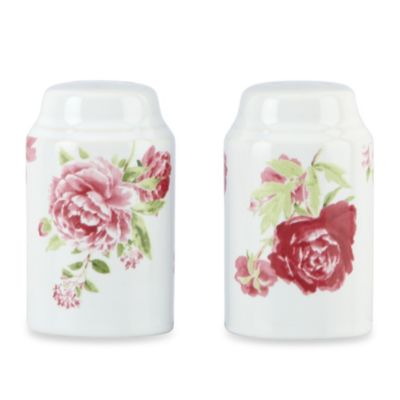 Kathy Ireland Home by Gorham Blossoming Rose Salt & Pepper Shaker Set