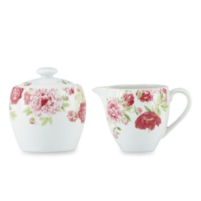 Kathy Ireland Home® by Gorham Blossoming Rose Sugar & Creamer Set
