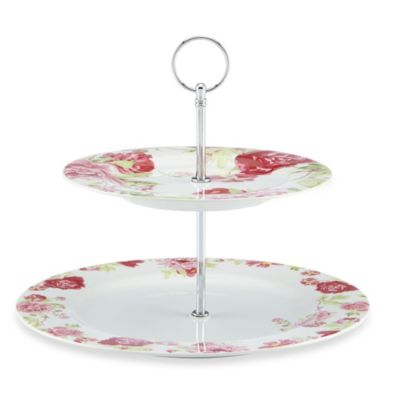 Kathy Ireland Home® by Gorham Blossoming Rose 2-Tiered Server