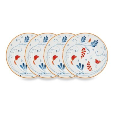 Kathy Ireland Home® by Gorham Spanish Botanica 4-Piece Canape Plate Set