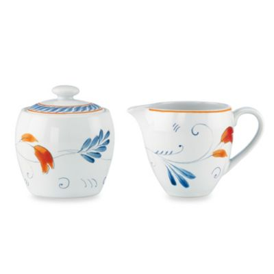 Kathy Ireland Home® by Gorham Spanish Botanica Sugar & Creamer Set