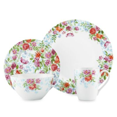 Kathy Ireland Home by Gorham Spring Bouquet 4-Piece Dinnerware Set