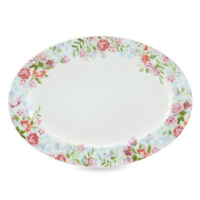 Kathy Ireland Home by Gorham Spring Bouquet 14-Inch Oval Platter