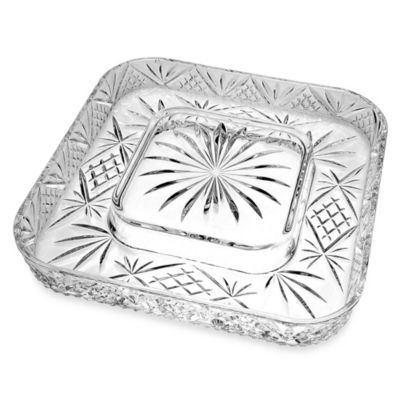 Godinger Silver Dublin Cheese & Cracker Server