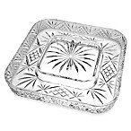 Godinger Dublin Crystal Silver Cheese & Cracker Server