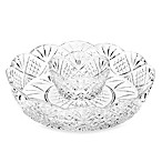 Godinger Dublin Crystal Silver Mini Chip & Dip Server