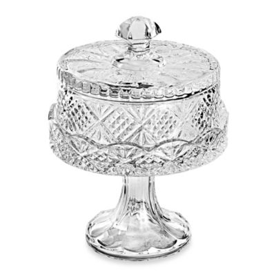Godinger Dublin Crystal Silver Dublin 7-Inch Footed Domed Plate