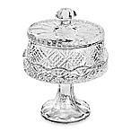 Godinger Dublin Crystal Silver 7-Inch Footed Domed Plate