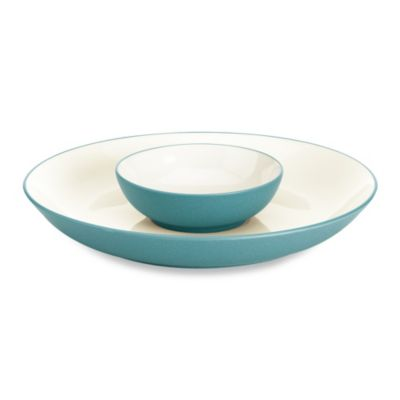 Noritake® Colorwave Turquoise 2-Piece 14 3/4-Inch Chip & Dip Set