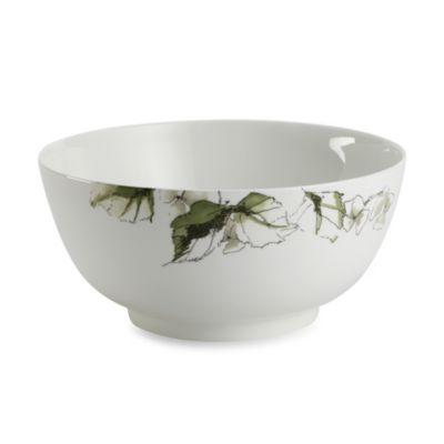Floral White Serving Bowls
