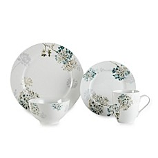 Mikasa® Silk Floral Teal 4-Piece Dinnerware Set