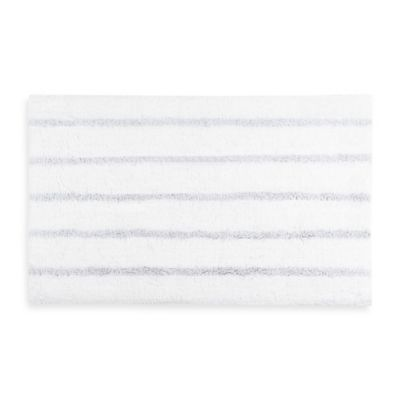 Kassatex Stripe 20-Inch x 40-Inch Bath Rug in Silver