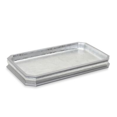 India Ink Glenwood Silver Leaf Guest Towel Tray