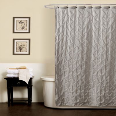 Noelle Pintuck 72-Inch x 84-Inch Shower Curtain in Grey