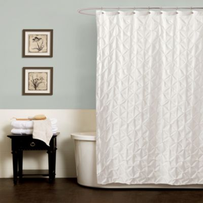 Noelle Pintuck 72-Inch x 84-Inch Shower Curtain in White