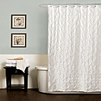 Noelle Pintuck Shower Curtains in White