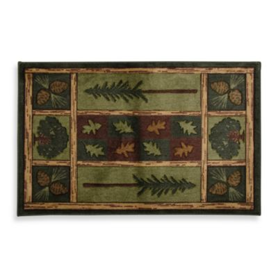 Bacova Woodland Escape Doormat in Green/Brown