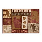 Bacova Wilderness Lodge Doormat in Cranberry/Camel