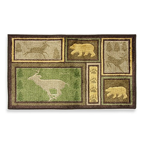 Bacova Forest Grove Doormat in Green/Brown