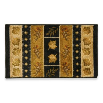 Bacova Southview 5-Foot 3-Inch x 8-Foot Area Rug in Gold/Black