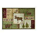 Bacova Canyon Doormat in Green/Camel