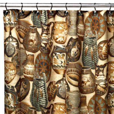Homewear 70-Inch x 72-Inch Artisan Shower Curtain