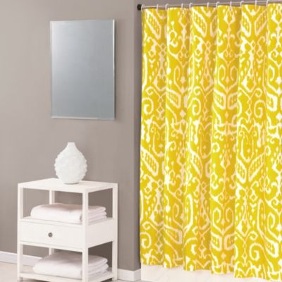 Trina Turk® Ikat 72-Inch x 72-Inch Shower Curtain in Yellow