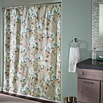 Lotus Aqua 72-Inch x 72-Inch Shower Curtain