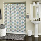 Ogee Groovy Blue 70-Inch x 72-Inch Shower Curtain