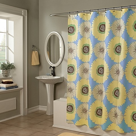 Sunflowers Yellow Blue 70 Inch X 72 Inch Shower Curtain Bed Bath Beyond