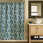 Ikat 72-Inch x 72-Inch Shower Curtain in Plume Teal