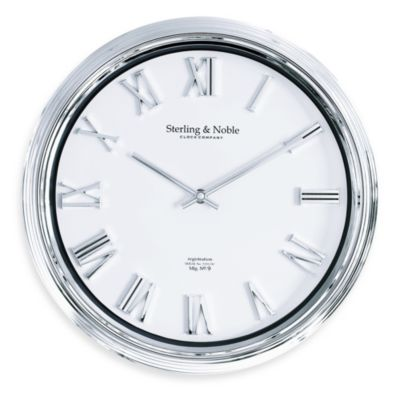 Chrome Finish Raised Number 14-Inch Wall Clock
