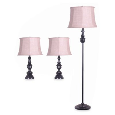 Delano Antique 3-Piece Lamp Set