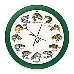 Mark Feldstein Splashing Gamefish 8-Inch Wall Clock