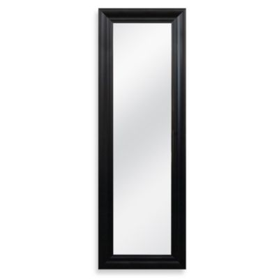 Decorative 53.5-Inch x 17.5-Inch Over-the-Door Mirror in Black