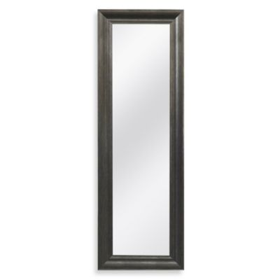 Decorative 53.5-Inch x 17.5-Inch Over-the-Door Mirror in Pewter