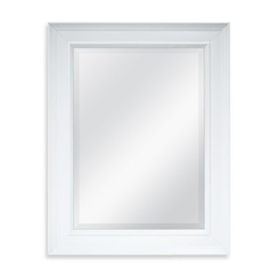 21.25-Inch x 27.5-Inch Decorative Mirror in White