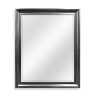 Decorative Mirror in Antiqued Pewter Finish