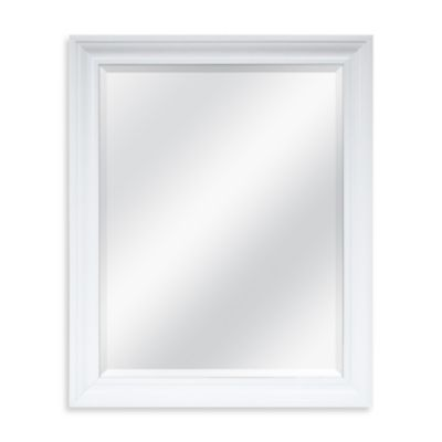 Decorative 26.5-Inch x 32.5-Inch Mirror in White