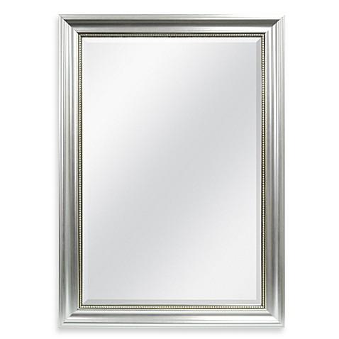 Decorative X Wall Mirror In Silver
