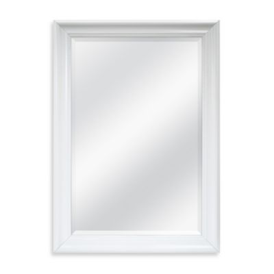 Decorative 30.25-Inch x 42.25-Inch Wall Mirror in White